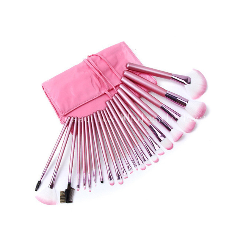 цены  New 10SET Pink Makeup Brushes Set 22 pcs/set With Package Wooden Foundation Powder Concealer Brushes set Synthetic Cosmetic Tool