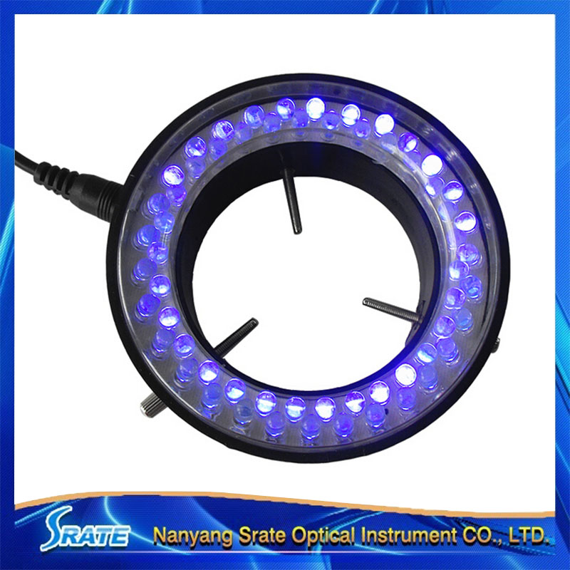 ФОТО 60 LED Purple UV Light Source for Microscope Ring Light Lamp Illuminator with Adapter 220V or 110V