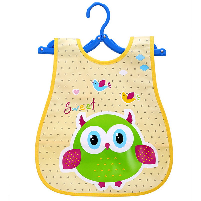 Adjustable Baby Bibs EVA Plastic Waterproof Lunch Feeding Bibs Baby Cartoon Feeding Cloth Children Baby Apron Babador de bebe (17)
