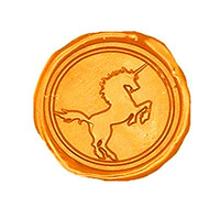 Vintage Cool Unicorn Horse Custom Picture Logo Wedding Invitation Wax Seal Sealing Stamp Stick Spoon Box