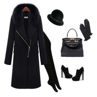 New arrival woman coat, good quality female wool/cashmere overcoat,XXXL large size clothes,free shipping