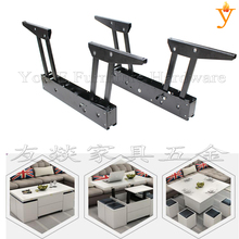 قطع الأثاث توفير مساحة وظيفية طاولة القهوة تصبح الطعام حاسب آلي يوضع على الطاولة آلية مع رافعة زنبركية للغاز إلى أسفل ببطء