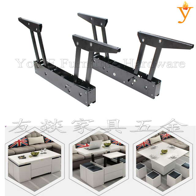 Furniture Hardware Save Space Functional Coffee Table Become Dining Table  Computer Mechanism With Gas Spring Lift