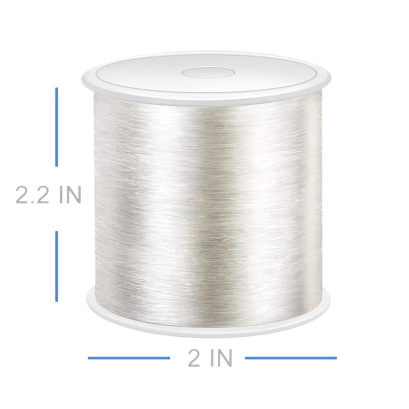 100 метров ювелирный шнур, эластичный браслет Веревка Кристалл Бисероплетение шнуры, прозрачные и блестящие эластичные бисерные линии, легко пройти