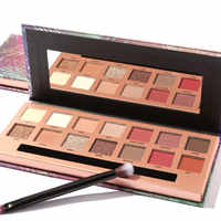 FOCALLURE Glitter Eye shadow palette 14 colors professional pallete easy to wear long lasting Tropical vacation eyeshadow