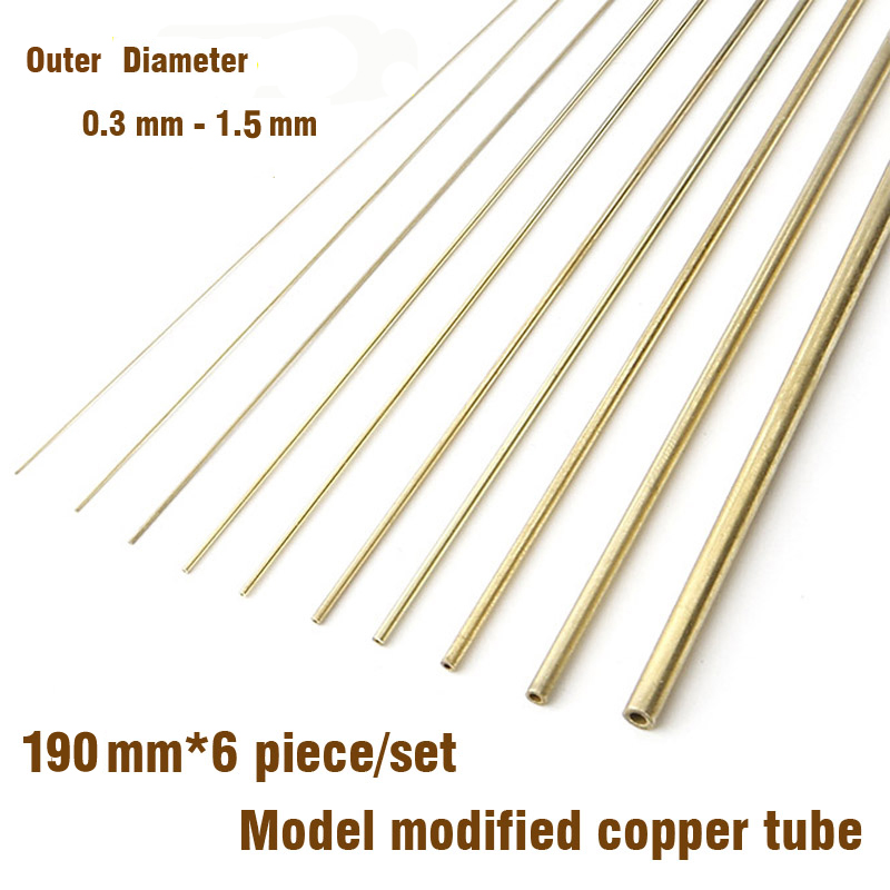 Model Modified Copper Tube 0.3mm-1.5mm Modeling Accessories Gundam Tanks Firearms Tool Hobby Upgrade Accessory
