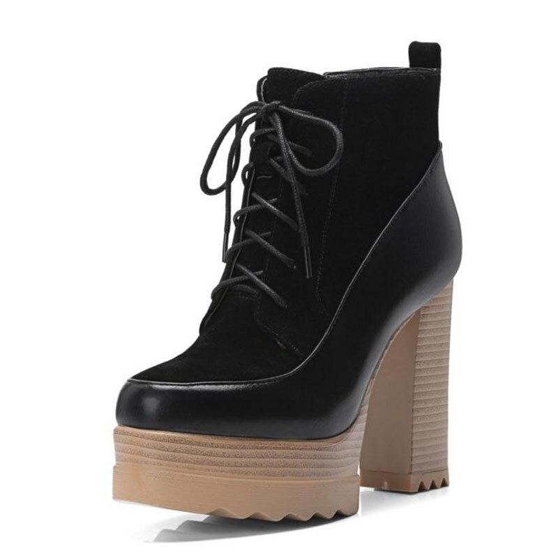 ebb57b1c9d8627 Bottes Croix Patchwork Chaussures Plate Mode Cheville Sangle Taille 3242 D' hiver Courtes forme Taoffen Femmes ...