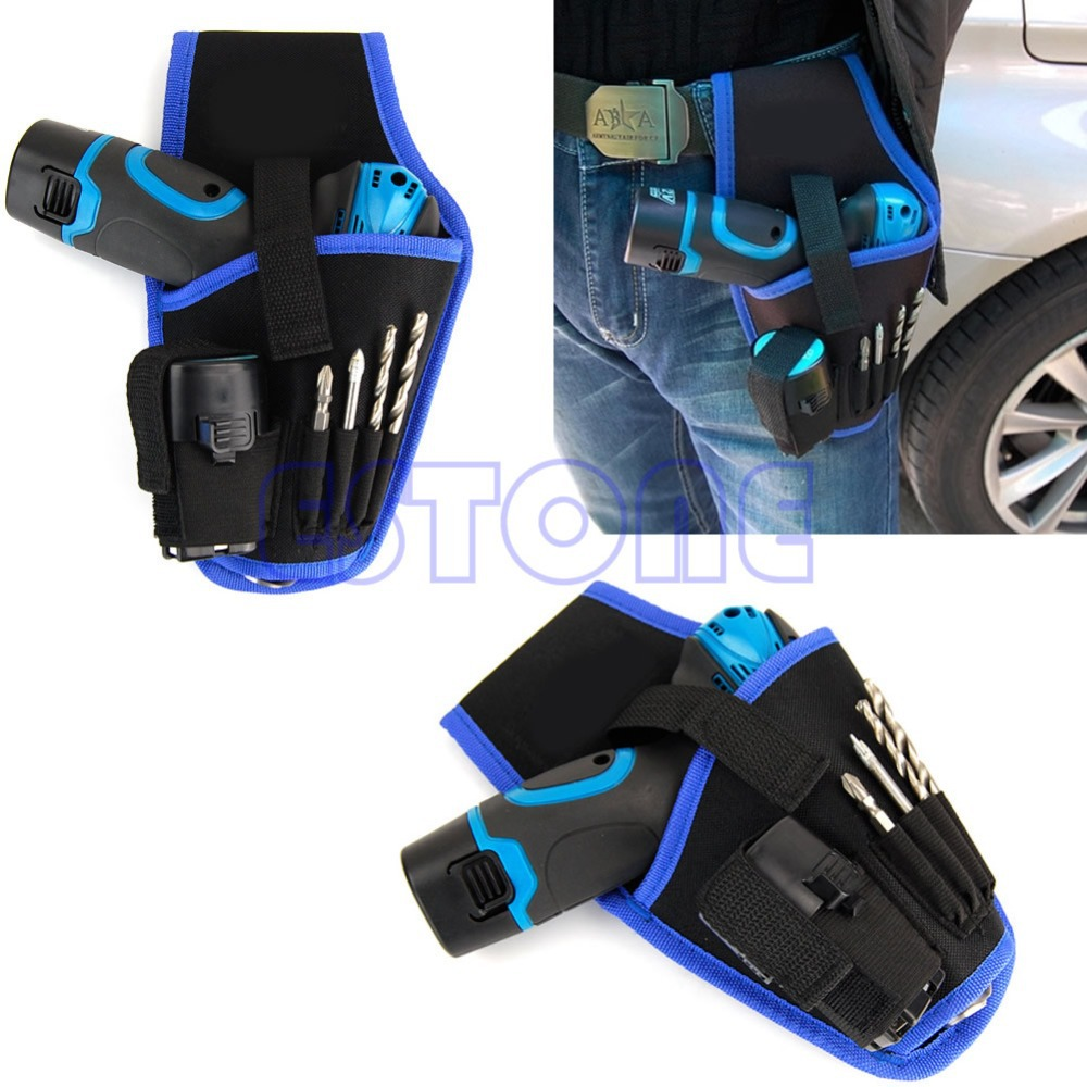 High Quality Portable Cordless drill Holder Holst Tool Pouch For 12v Drill Waist Tool Bag