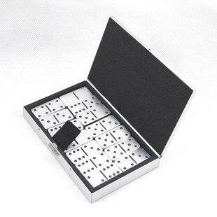 Free Shipping Gift pure aluminum domino