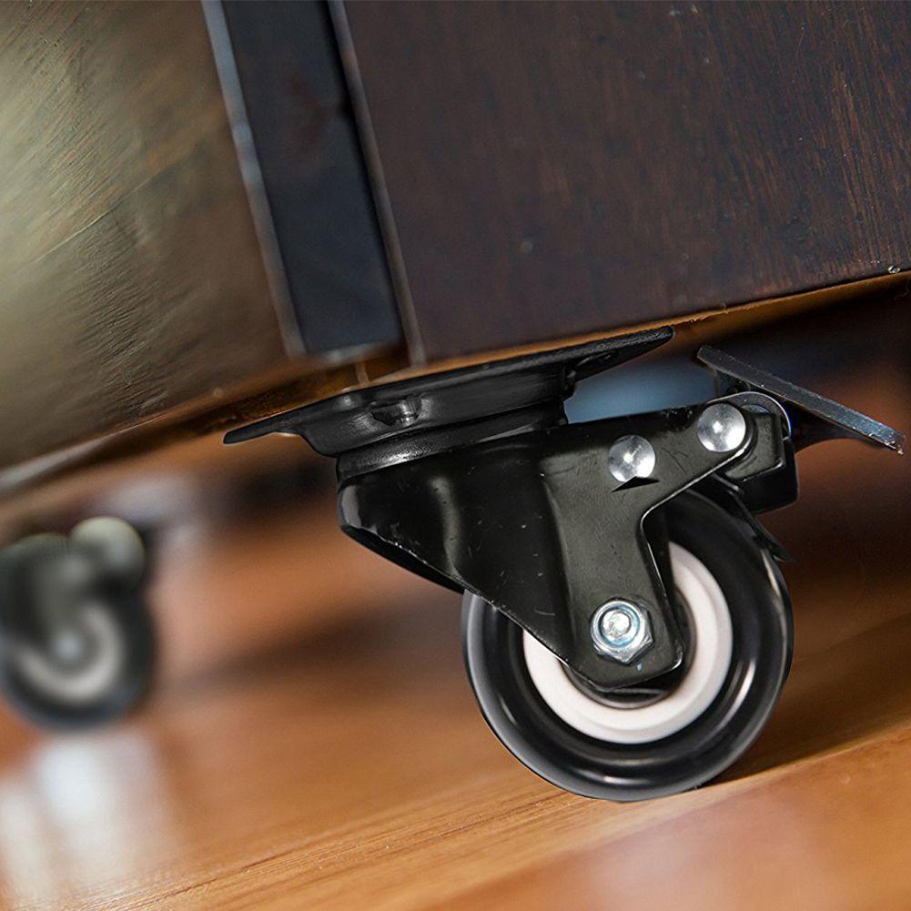 4 o rodízio resistente do bloco 2in roda o giro do poliuretano com capacidade total superior da placa 220lb de 360 graus para a mobília-2