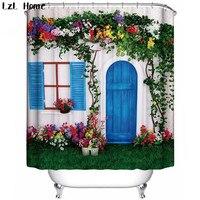 Lzl дома различных европейских замок дом узор занавески новый китайский роскошные полиэстер экологически чистые шторы для ванной комнаты