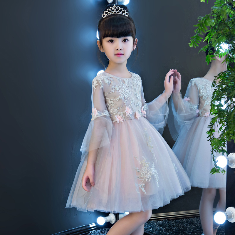 Beading Flower Girl Dresses Wedding Ball Gown Kids Pageant Dress Birthday Costume Knee-length Girls Gown Dress Evening B76 kids evening gowns pearl beading flower girl dresses for wedding ball gown appliques girls pageant dress birthday costume b100