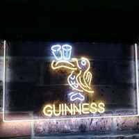Lovely Day Guinness Beer Toucan Bar Decor Dual Color Led Neon Light Signs st6 a2121