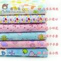 Envío libre 100% de algodón de franela 6 unids/lote algodón de la historieta amor paño combinación del patrón del oso ropa de bebé tela 50*50 cm