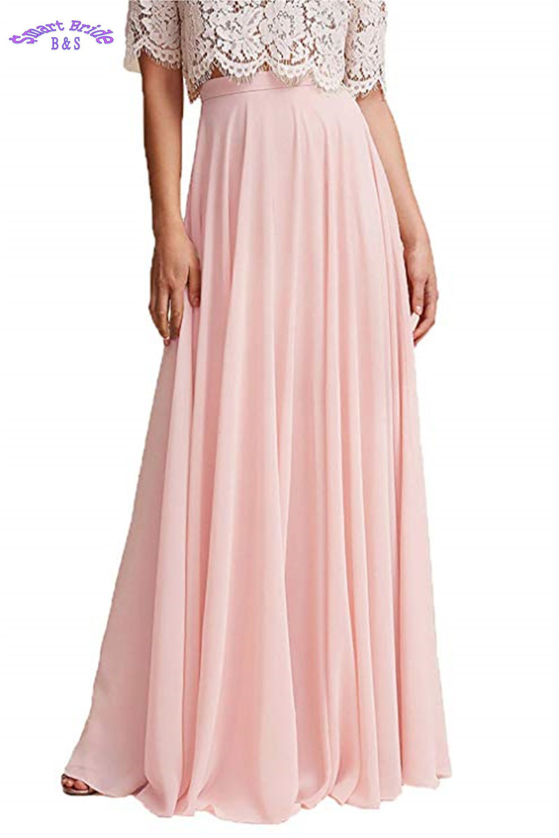 Lower Price with Chiffon Maxi Skirt Bridesmaid Dresses Long High Waist Floor Length Elastic Women Dresses With Belt 2019 Bdress 18 As Effectively As A Fairy Does Bridesmaid Dresses