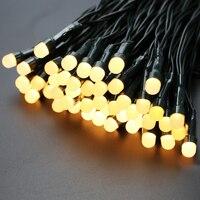רגל 10 M 100 LED פיית אורות מחרוזת סוללה מופעל מרחוק עמיד למים Led אורות כוכבים פנינה לפנימי/חיצוני עם טיימר