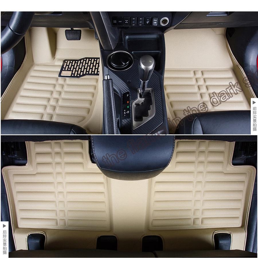 Floor mats rav4 - Free Shipping Fiber Leather Car Floor Mats For Toyota Rav4 4th Generation Xa40 2013 2014 2015