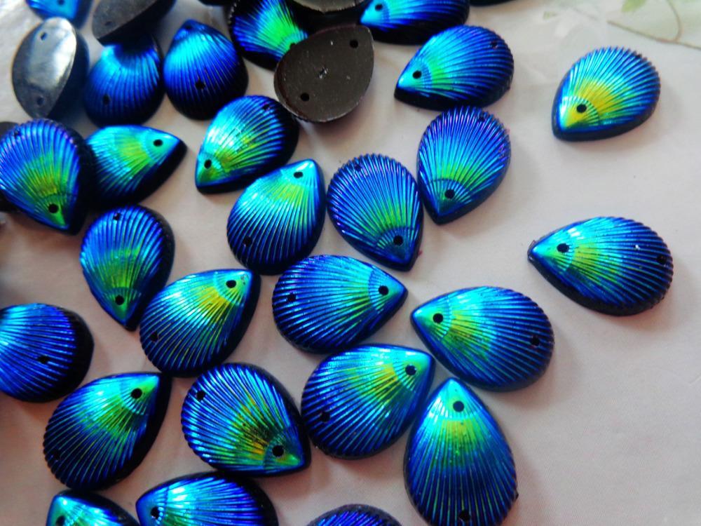 Water drop shape 10 14mm flatback crystal Dark Blue AB colour sew on rhinestones  gem stones 100pcs free shipping-in Rhinestones from Home   Garden on ... 328c12f14fc3