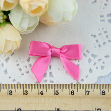 500pcs/lot Hot Pink Artificial Fancy Bows for Educational Kids Toys White Free Shipping