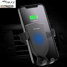 10W Qi Wireless Charger For iPhone 8 X XR XS Max QC3.0 10W Fast Wireless Chargre for Samsung S9 S8 Note 8 9 S7 phone цены онлайн