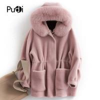 PUDI B181050 женские зимние теплые натуральная шерсть Меховая куртка жилет из натуральной норки для отдыха для девочек пальто леди куртка пальто