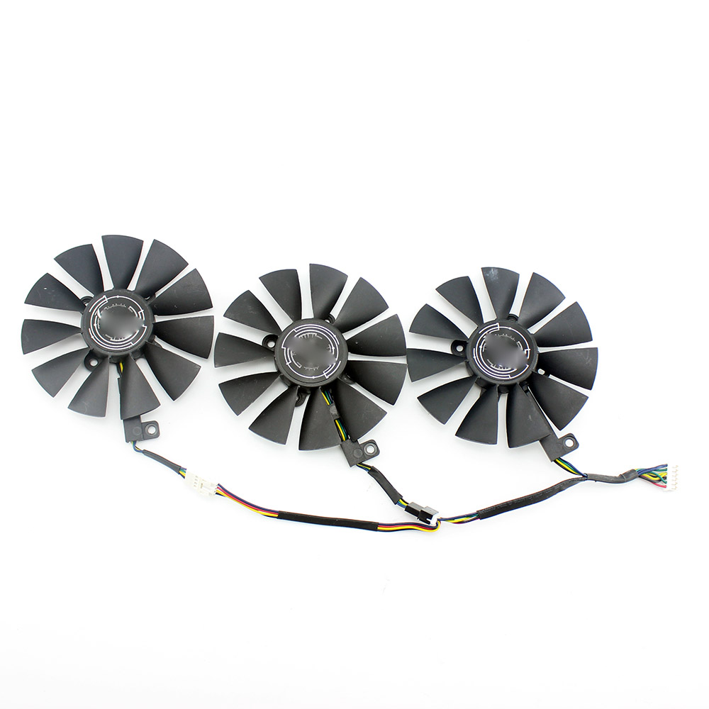 New 87MM PLD09210S12M PLD09210S12HH Cooling Fan Replace For ASUS Strix GTX 1060 OC 1070 1080 GTX 1080Ti RX 480 Graphics Card Fan image