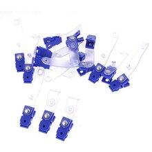 17 шт. синий мягкий ясно Пластик пуговицу офисные знак клип