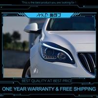 AKD tuning cars Headlight For Buick Opel Regal 2014 2015 Headlights LED DRL Running lights Bi Xenon Beam Fog lights angel eyes