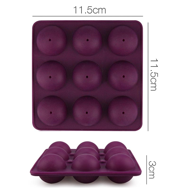Memokey 9 Units Hole Silicone Cake Pop Mold Ball Shaped Die Mold Silicone Lollipop Chocolate Cake Baking Ice Tray Stick Tool G in Cake Molds from Home Garden
