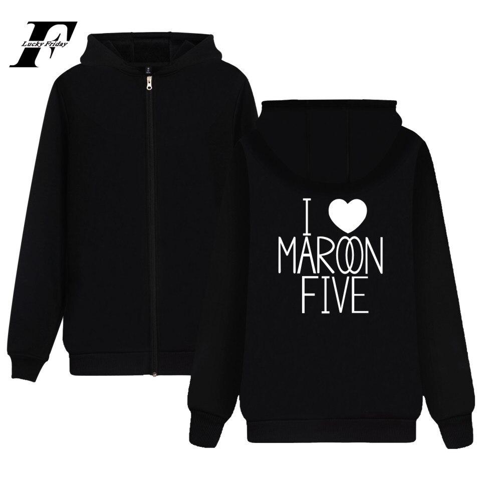 Maroon 5 Hoodie Rock Music Sweatshirt Girls Jacket Hot Band Zipper Fashion Coat 4XL Streetwear Casual Soft Cotton