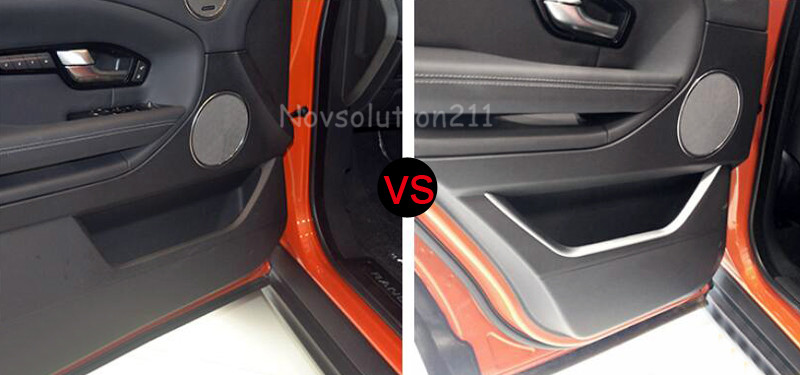 4* Interior Auto Car Door Stripe Mouldings cover Chromed Trim For Range Rover Evoque 2011 2012 2013 2014 2015 2016 abs chrome door body side protector trim fit for range rover evoque 2011 2012 2013 2014 6 pcs per set