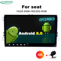New Autoradio Funrover 2 Din 2g 32g Android 8 0 Car Dvd Player Gps Navigation Radio