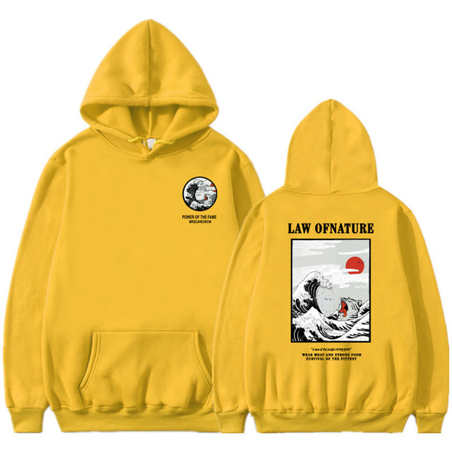 Funny Cat Wave Printed Fleece Hoodies Winter Japan Style Hip Hop Casual Sweatshirts KODAK Street wear 1