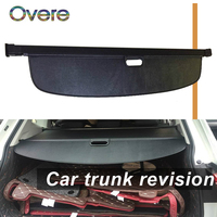 Overe 1Set Car Rear Trunk Cargo Cover For VW Volkswagen Tiguan L Car styling Black Security Shield Shade Auto accessories