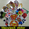 50 PCS / Pack Random music film Vinyl Skateboard Guitar Travel Case sticker Car decal Cute Stickers fashion funny sticker