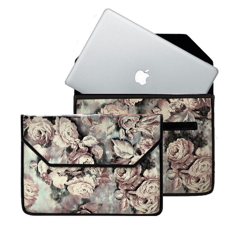 2017 fait à la main personnalisé sac pour ordinateur portable étui pour macbook Pro A1708 13.3 ''Retina ordinateur sacs 15.4'' pour les femmes sacs à main doux