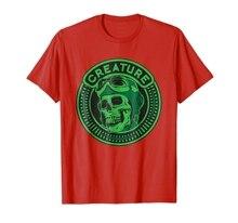 new men shirt Creature Skateboards Skull T Shirt