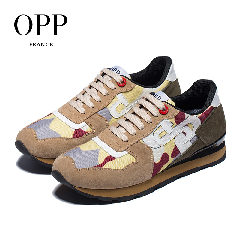 OPP Mens Shoes Fashion Lace-up camouflage Military Style Sneakers Genuine Leather Large Size Casual Shoes For MenOPP Mens Shoes Fashion Lace-up camouflage Military Style Sneakers Genuine Leather Large Size Casual Shoes For Men