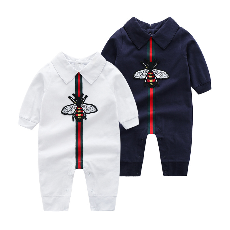 Newborn Baby Boys Cotton Jumpsuits Outfits Casual Long Sleeve Toddler Infant   Rompers   Pajamas Children's Overalls One Piece 0-24M