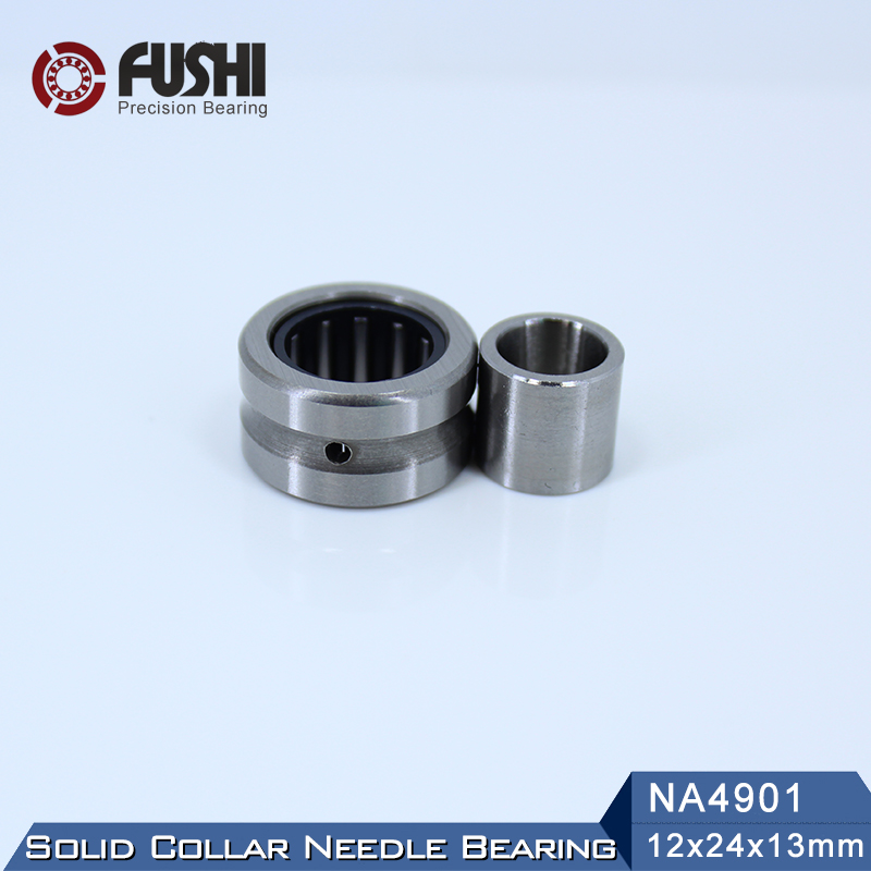 NA4901 Bearing 12*24*13 mm ( 1 PC ) Solid Collar Needle Roller Bearings With Inner Ring 4524901 4544901/A Bearing