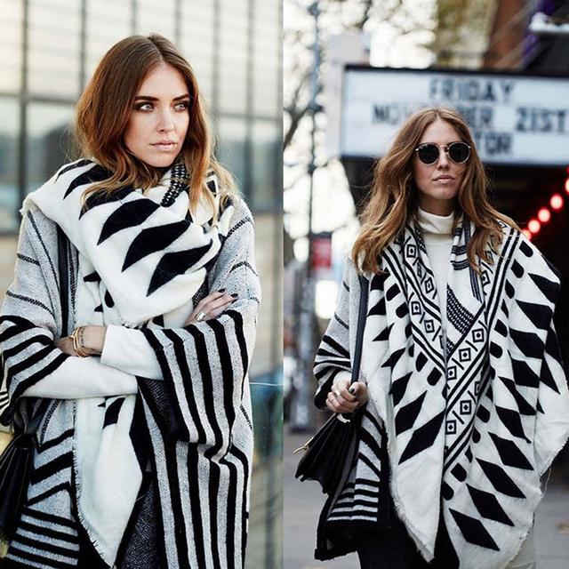 Nueva Moda de Las Mujeres Rombo Bufanda Otoño Invierno Bufanda Mujeres Chal y una Bufanda Venta Caliente Populares bufanda echarpe Estilo Europeo