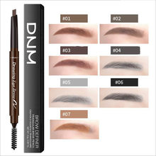 7 Color Double Ended Eyebrow Pencil Waterproof Long Lasting No Blooming Rotatable Triangle Eye Brow Tatoo Pen Pencil Makeup(China)