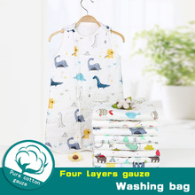 Sleeping Bag Baby Six Layers Cotton Washed Gauze Muslin Blanket Thick Soft Vest Type Newborn Sacks