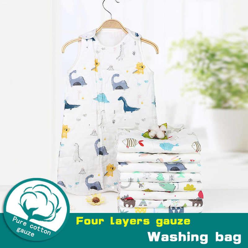 Túi Ngủ Cho Bé 6 Lớp Bông Rửa Gạc Vải Muslin Chăn Dày Mềm Lần Loại Bông Gạc Sơ Sinh Cho Bé Ngủ Bao