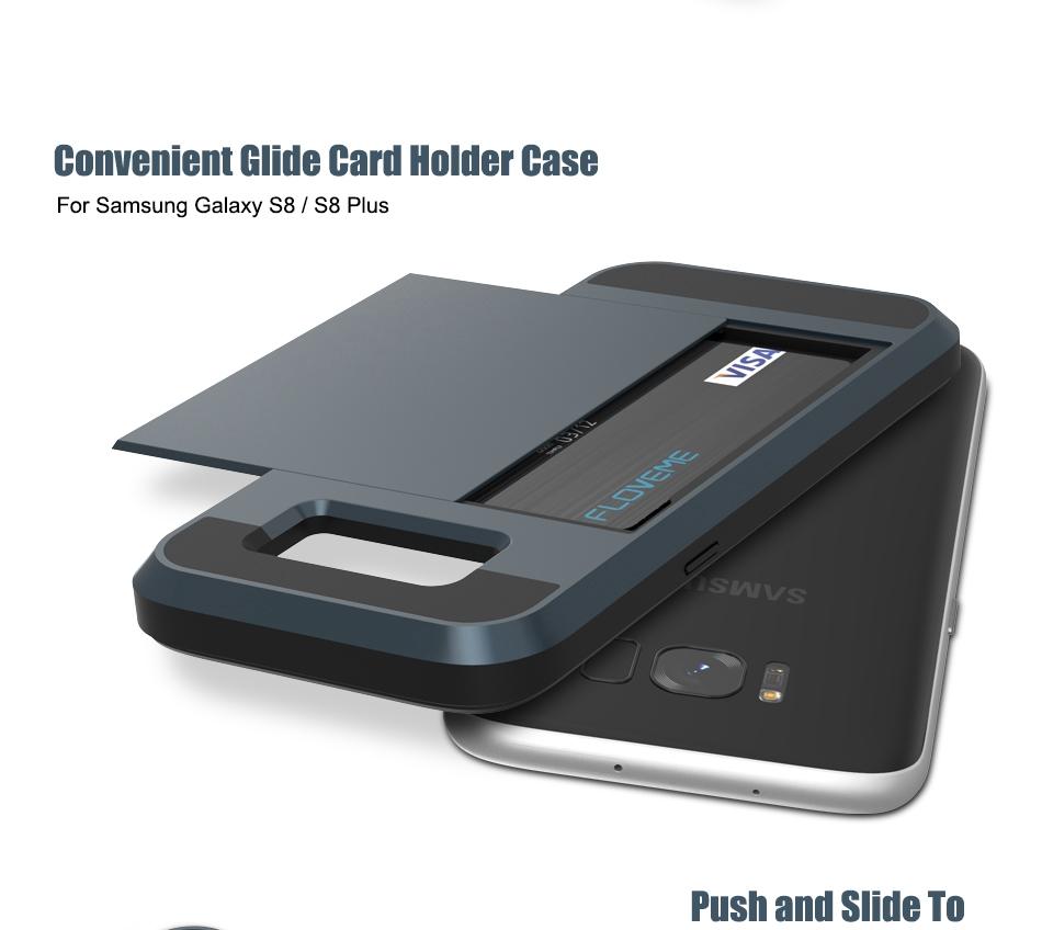 For Samsung S8 Plus Armor Case Galaxy S8 Hidden Card Slot Phone Cases  (2)