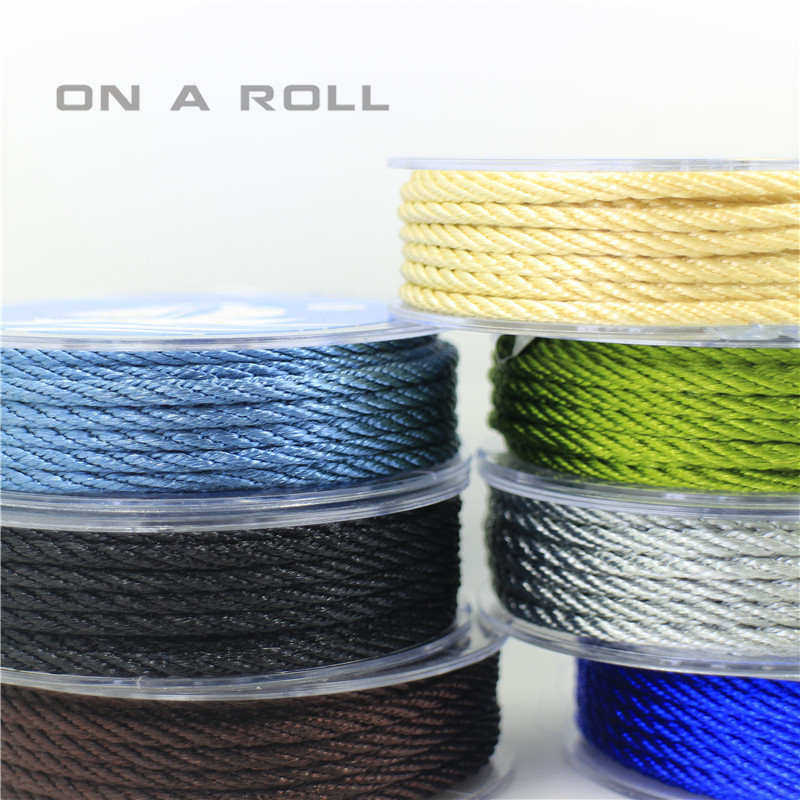 3mm Thread Cord String Strap  Necklace Beading Rope For Chinese Braided Knot DIY 14 Color 4M/roll