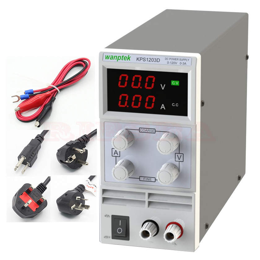 KPS1203D LED display switch DC Power Supply protection function 120V3A 0.1V/0.01A switch power kps3010d adjustable high precision double led display switch dc power supply protection function 30v10a 110v 230v
