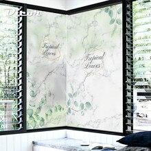 DICOR vintage marble pattern glass film decorative color in window privacy no glue Scandinavia modern decoration BLT2224