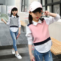 Big Girls Shirts Blouses For Girls Children Clothing 2017 Spring School Uniforms Casual Brand Teenage Kids Tops 6 8 12 14 Years