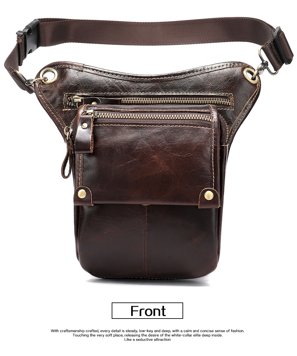 HTB1rl affsK1RjSszbq6AqBXXaa - WESTAL Genuine Leather leg bag in Waist Pack motorcycle Fanny Pack Belt Bags Phone Pouch Travel Male Small leg bag tactical 3237